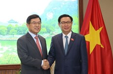 Deputy PM Vuong Dinh Hue meets with Samsung Vietnam leader