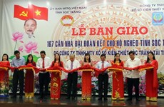 Houses presented to disadvantaged families in Soc Trang