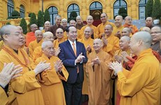 President Tran Dai Quang hails Buddhist congress success