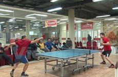 Table tennis tourney connects overseas Vietnamese in Russia
