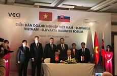 Vietnam, Slovakia promote economic cooperation