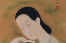 Vietnamese artist's paintings sold at high prices in Hong Kong
