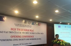 Project empowering civil society, workers launched