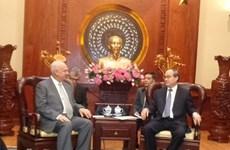 HCM City leader meets Russian ambassador