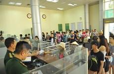 Passengers through Mong Cai-Dongxing border gate at record high
