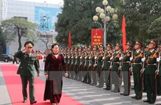NA Chairwoman holds working session with Hanoi Capital High Command