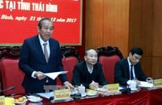 Thai Binh urged to focus on socio-economic development