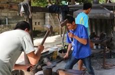 Mountain blacksmiths keep the fire burning