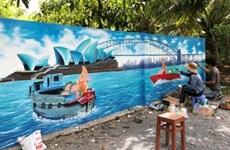 VN-Australia mural village in Dong Thap to attract visitors