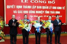 Establishment decision of Thai Binh economic zone announced