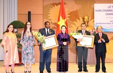 NA Chairwoman receives, presents Friendship Order to IPU leaders