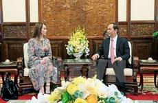 President Tran Dai Quang hosts IPU leaders