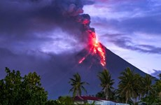 Philippines: Over 60,000 people evacuate due to Mayon volcano's eruption