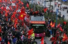 U23 Vietnam return home to warm welcome