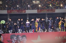 U23 football team honoured at grand ceremony