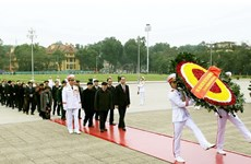 Leaders pay tribute to President Ho Chi Minh on CPV founding anniversary