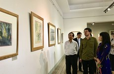 Chinese artist exhibits landscape paintings in HCM City