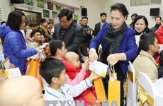 NA, VFF leaders present Tet gifts to needy people