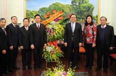 Evangelical Church extends Tet greetings to Hanoi Party Committee