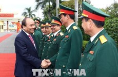 PM makes working trip to Military Zone 5