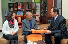 President pays Tet visits to outstanding intellectuals in Hanoi