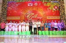 Ho Chi Minh City leaders share pre-Tet joy with workers