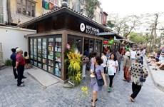 Spring book street opens in Hanoi