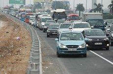 Traffic police help ensure traffic safety, social order for Tet