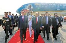President arrives in Dhaka, beginning State visit to Bangladesh