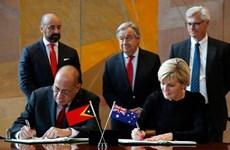 Australia, Timor-Leste sign maritime boundaries treaty