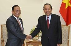 Deputy PM Truong Hoa Binh receives Myanmar border minister
