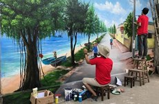 Vietnam's seventh mural village launched in central province