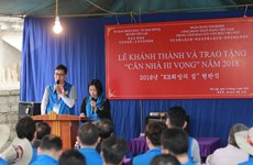 RoK bank presents 20 houses to poor workers in Phu Tho