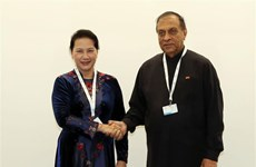 NA Chairwoman meets Sri Lankan Parliament Speaker on IPU-138 sidelines