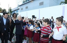 Party chief Nguyen Phu Trong visits Vo Thi Thang school in Cuba
