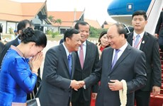 PM Nguyen Xuan Phuc arrives in Cambodia for third MRC Summit