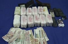 Quang Binh border force arrests Lao drug traffickers
