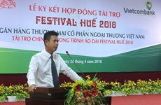 Vietcombank becomes bronze sponsor for Hue Festival 2018