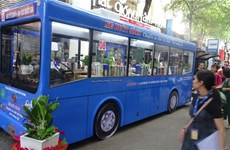 Bus library launched in HCM City