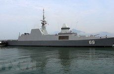 Singapore Navy's vessel visits Da Nang