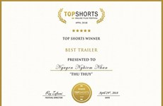Vietnamese wins Top Shorts film awards