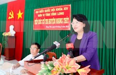 Vice President meets Vinh Long voters ahead fifth NA session