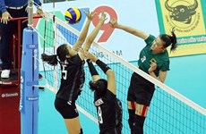 Eight teams vie for trophy at int'l women's volleyball tourney