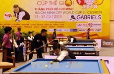 World leading cueists compete in Billiards World Cup in HCM City