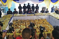Record volume of crystal meths seized in Malaysia