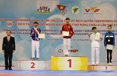 Vietnamese athlete wins gold medal at Asian Taekwondo Champs