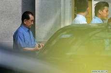 DPRK delegation leader Kim Chang Son appears in Singapore