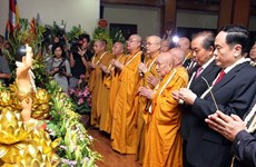 Grand ceremony marks Lord Buddha's 2562nd birthday