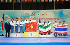Vietnam ranked third at 5th Taekwondo Poomsae Championship