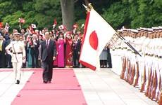 Japanese media highlights welcome ceremony for Vietnamese President